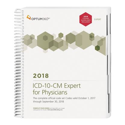 Picture of ICD-10-CM Expert for Physicians — 2018 (Spiral) with guideline
