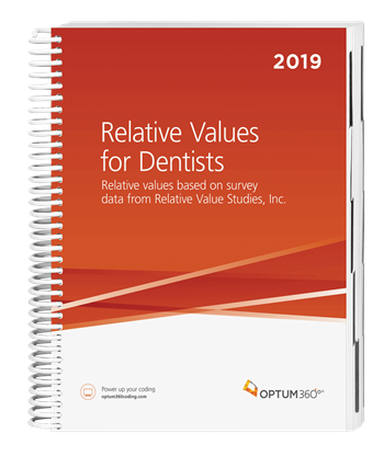 Picture of Relative Values for Dentists-2019