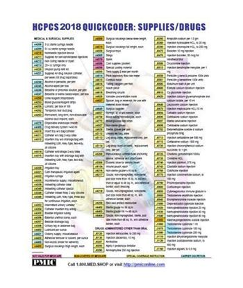 Picture of 2018 HCPCS QUICK CODER CARD/DRUGS & SUPPLIES