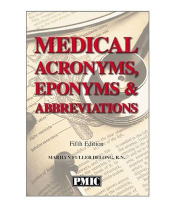 Picture of MEDICAL ACRONYMS, EPONYMS & ABBREVIATIONS