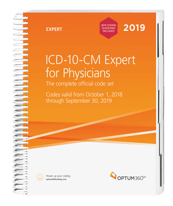 Picture of ICD-10-CM Expert for Physicians — 2019 (Spiral) with guidelines