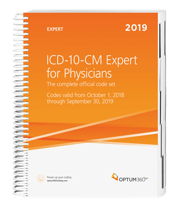 Picture of ICD-10-CM Expert for Physicians — 2019 (Spiral) without guidelines