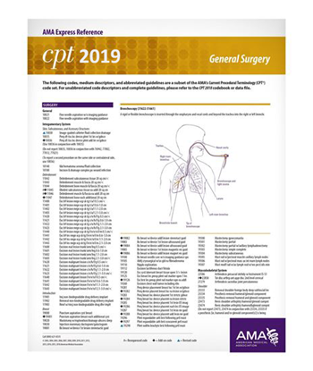 Picture of CPT 2019 Express Reference Coding Card: General Surgery