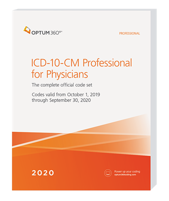 Picture of ICD-10-CM Professional for Physicians - (Softbound) with guidelines
