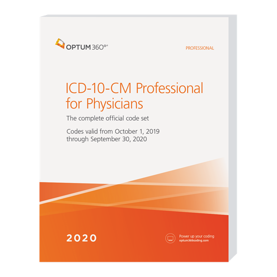 Picture of ICD-10-CM Professional for Physicians - (Softbound) without guidelines