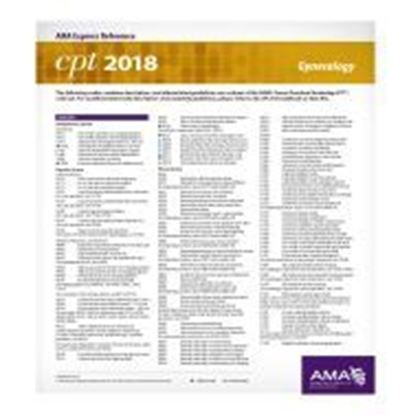 Picture of CPT 2018 Express Reference Coding Card: Gynecology
