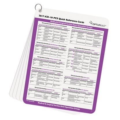 Picture of ICD-10-PCS Quick Reference Cards — 2017