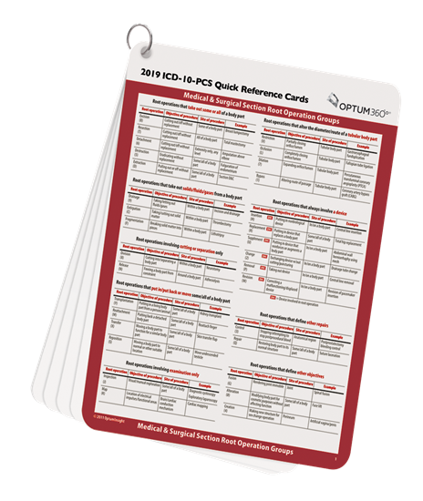 Picture of ICD-10-PCS Quick Reference Cards-2019
