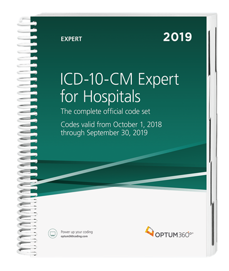 Picture of ICD-10-CM Expert for Hospitals — 2019 (Spiral) with guidelines