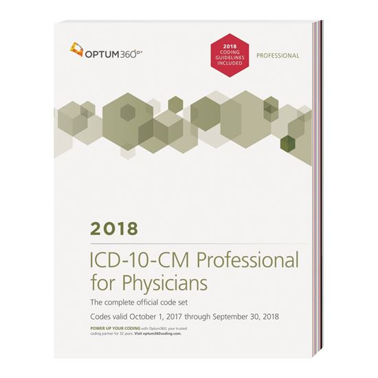 Picture of ICD-10-CM Professional for Physicians — 2018 (Softbound) with guidelines
