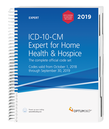 Picture of ICD-10 Expert for Home Health and Hospice-2019 with guidelines