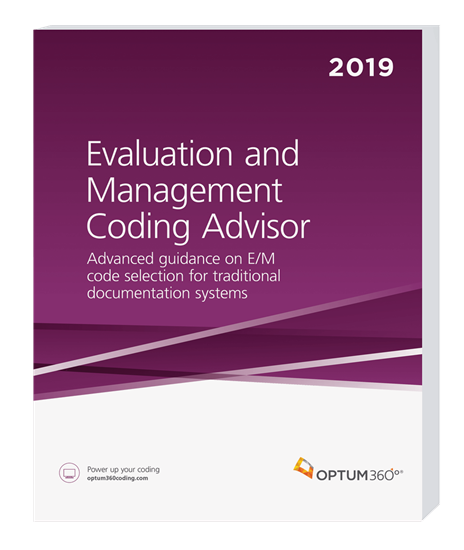 Picture of Evaluation and Management Coding Advisor-2019