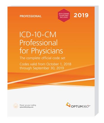 Picture of ICD-10-CM Professional for Physicians — 2019 (Softbound) with guidelines
