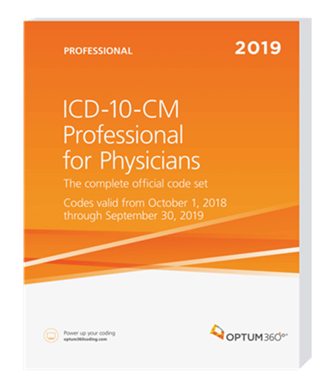 Picture of ICD-10-CM Professional for Physicians — 2019 (Softbound) without guidelines