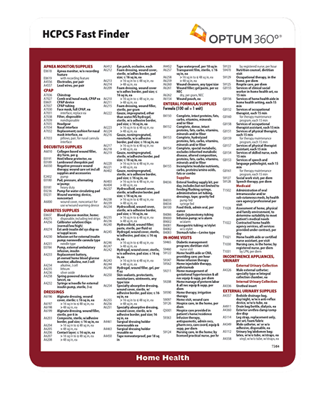 Picture of HCPCS Fast Finder for Home Health