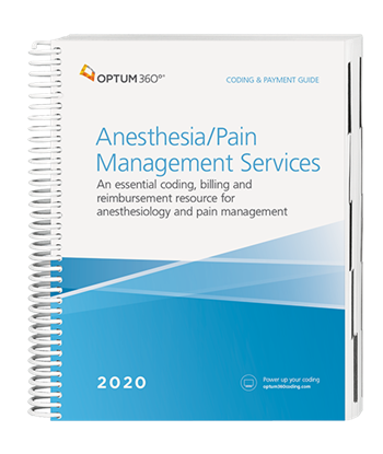 Picture of Coding and Payment Guide for Anesthesia/Pain Management Services