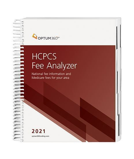 Picture of 2021 HCPCS Fee Analyzer - (Spiral)