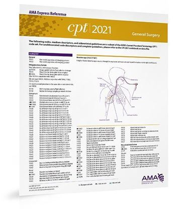 Picture of CPT 2021 Express Reference Coding Card: General Surgery