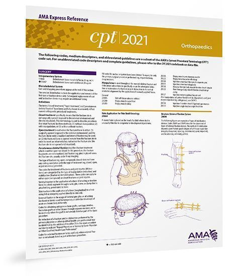 Picture of CPT 2021 Express Reference Coding Card: Orthopaedics