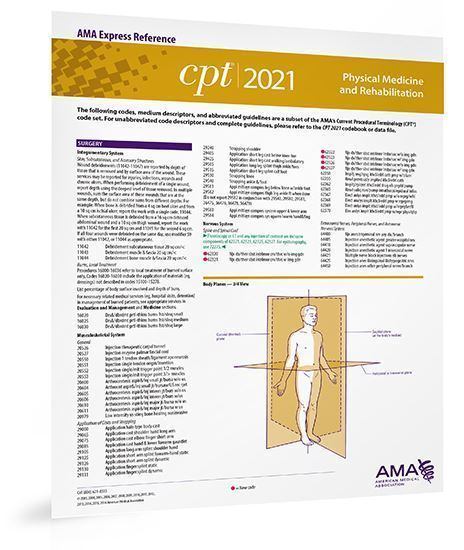 Picture of CPT 2021 Express Reference Coding Card: Physical Medicine and Rehabilitation